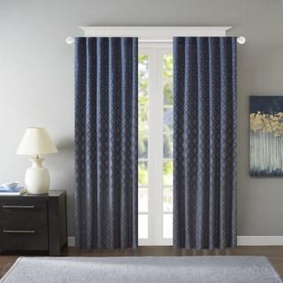 Madison Park Morris Jacquard Window Curtain Panel