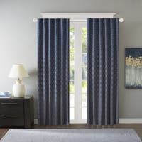 Madison Park Morris Jacquard Window Curtain Panel