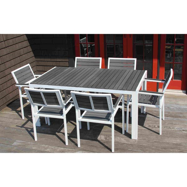 Discontinued 7 Piece Winston Grey And White Outdoor