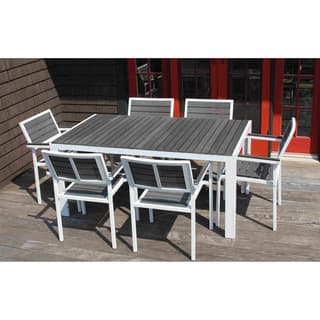 7-piece Winston Grey and White Outdoor Dining Set https://ak1.ostkcdn.com/images/products/12835896/P19601626.jpg?impolicy=medium