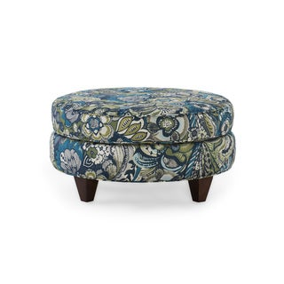 Homeware Bellemy Wood Capri Round Ottoman