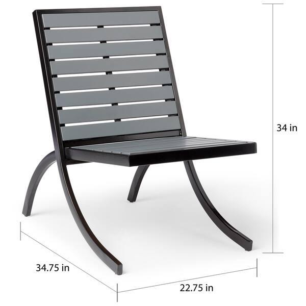 Fantastic Shop Rialto Outdoor Lounge Chair Charcoal Free Shipping Machost Co Dining Chair Design Ideas Machostcouk
