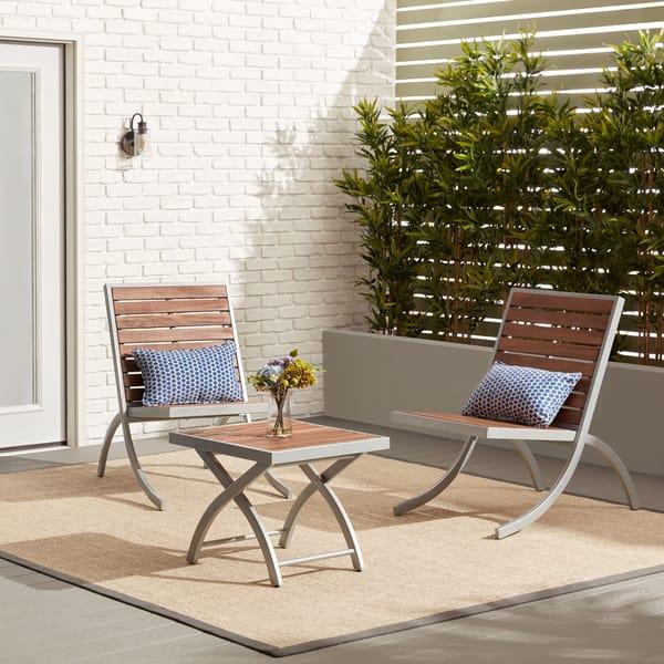 Brilliant Shop Rialto Outdoor Lounge Chair Silver Free Shipping Machost Co Dining Chair Design Ideas Machostcouk
