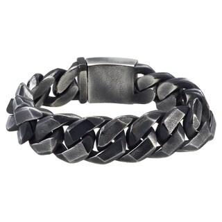 Men's Black Stainless Steel 8.5-inch Bracelet By Ever One