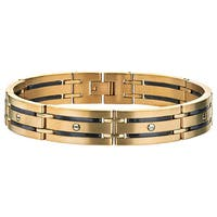 Men's Yellow ion-plated Stainless Steel Screw Bracelet By Ever One