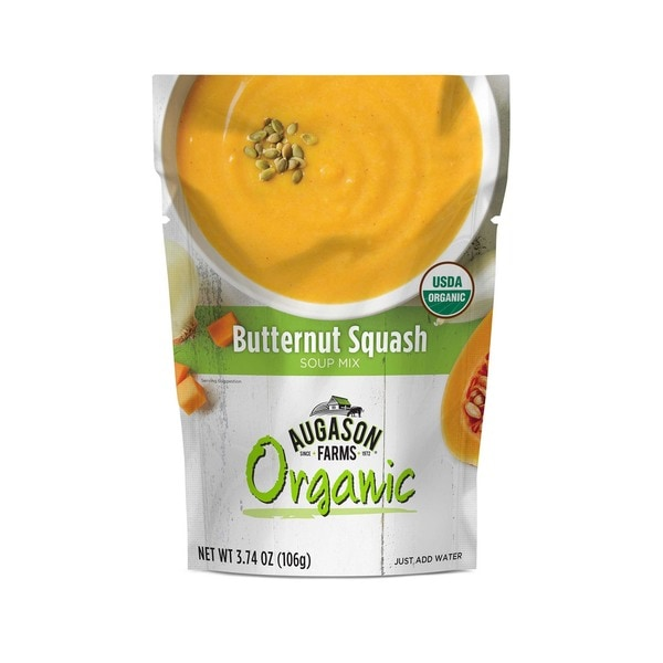 Augason Farms Organic Butternut Squash Soup Mix 3.74 oz. 6-pouch Pack