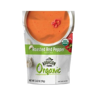 Augason Farms Organic Roasted Red Pepper Soup Mix 3.42 oz 6-Pouch Pack