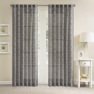 Madison Park Kida Embroidery Window Curtain Panel