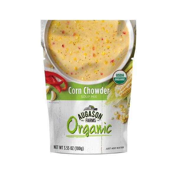 Augason Farms Organic Corn Chowder Soup Mix 3.55 oz. 6-pouch Pack