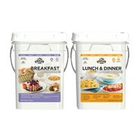 Augason Farms Breakfast Lunch & Dinner Pail Combo Survival Emergency Food