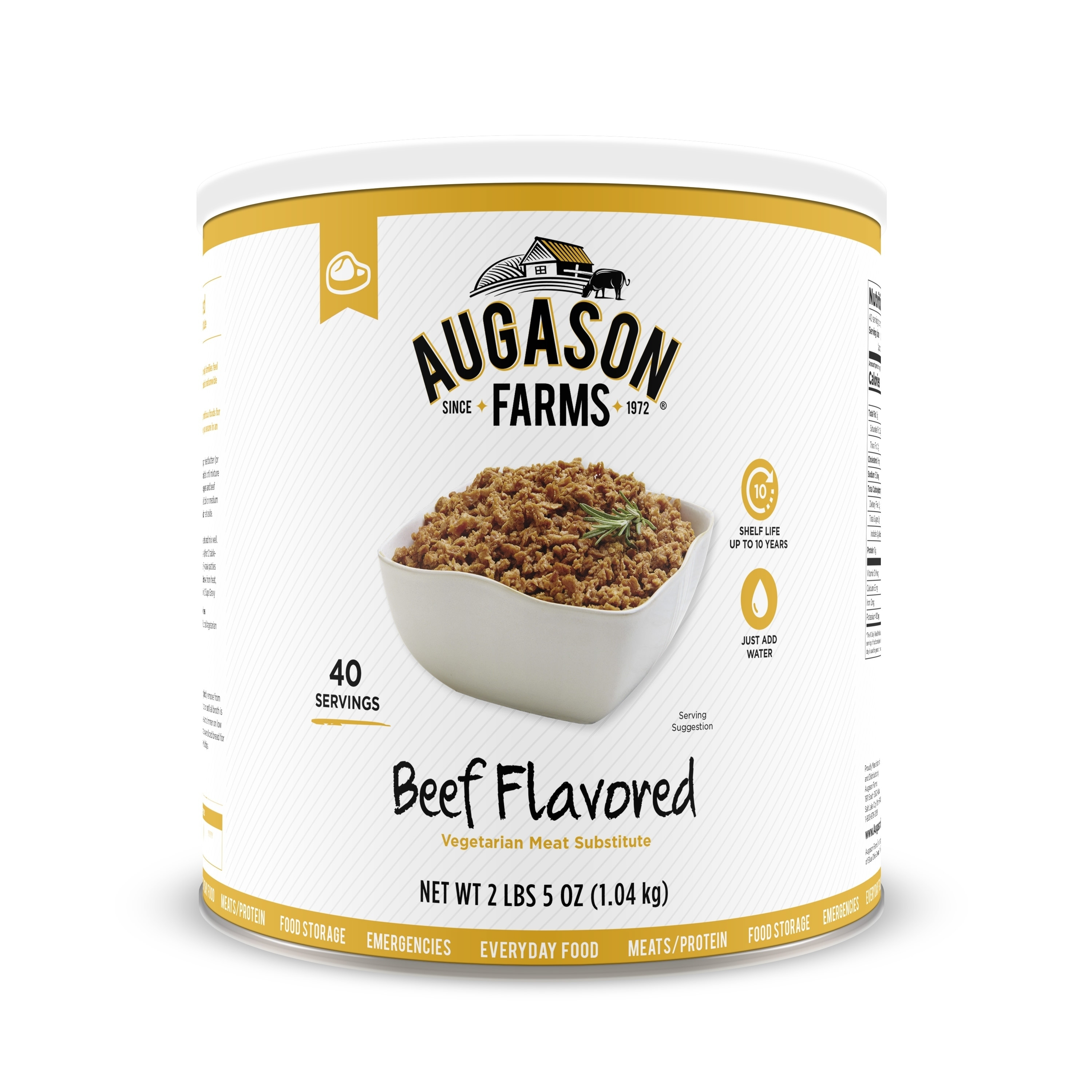 Augason Farms Beef Flavored Vegetarian Meat Substitute 2 ...