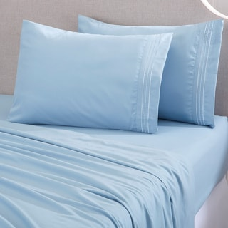 Home Fashion Designs Damascus Collection Double Brushed Microfiber Sheet Set