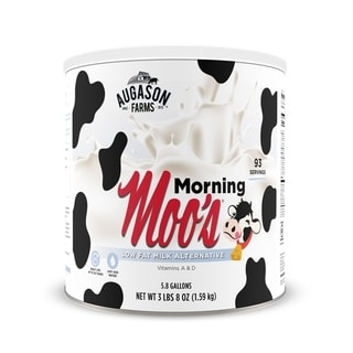 Augason Farms Morning Moo's Low Fat Milk Alternative Emergency Food Storage #10 Can
