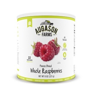 Augason Farms 8-ounce Freeze-dried Whole Raspberries