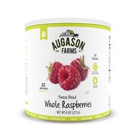 Augason Farms Freeze Dried Whole Raspberries 8 oz No. 10 Can