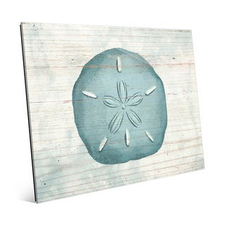 Rustic Sand Dollar Glass Wall Art