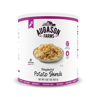 Augason Farms Dehydrated Potato Shreds 23-ounce #10 Can
