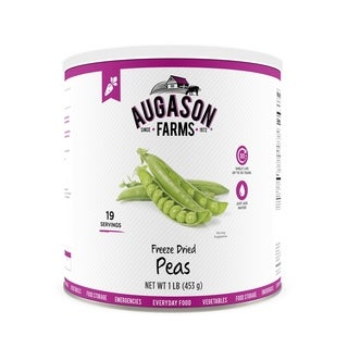 Augason Farms Freeze Dried Peas 16 oz #10 Can