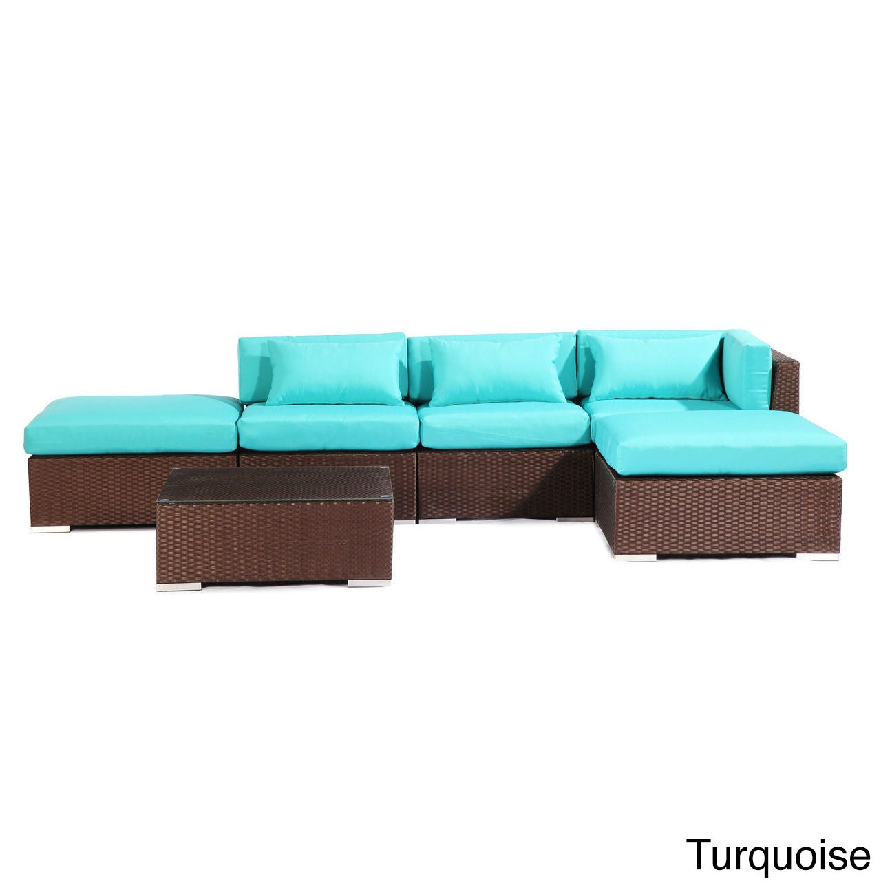 Modify-It Poipu 6-Piece Outdoor Patio Sofa Sectional Set ...