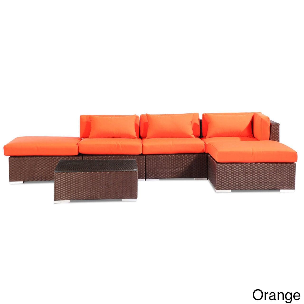 Modify-It Poipu 6-Piece Outdoor Patio Sofa Sectional Set ...
