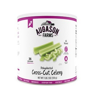 Augason Farms Dehydrated Cross Cut Celery 18 oz #10 Can
