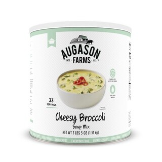 Augason Farms Cheesy Broccoli Soup Mix 54 oz. No. 10 Can