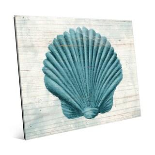 'Seashell Aegean' Glass Wall Art