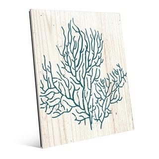 'Coral Silhouette' Glass Wall Art