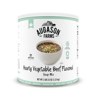 Augason Farms 44 oz #10 Can Hearty Vegetable Beef Soup Mix