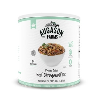 Augason Farms 41-ounce Freeze-dried Beef Stroganoff Kit #10 Can