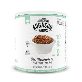 Augason Farms Chili Macaroni with Freeze-dried Beef 48-ounce #10 Can