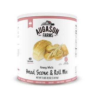 Augason Farms Honey White Bread Scone and Roll Mix Emergency Food Storage #10 Can