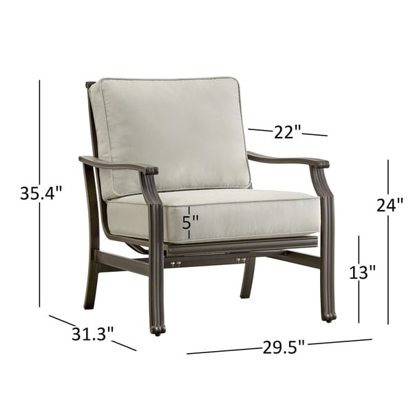 Matira Metal Outdoor Modern Cushioned Rocking Chair INSPIRE Q Oasis   Free  Shipping Today   Overstock.com   19601729