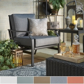 Matira Metal Outdoor Modern Cushioned Rocking Chair by NAPA LIVING
