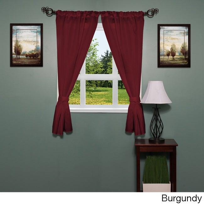 34-inch x 54-inch Diamond-pattern Bathroom Window Curtain...