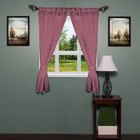 34-inch x 54-inch Diamond-pattern Bathroom Window Curtain Panel Pair withTie Backs