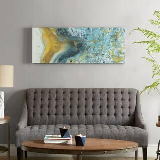Carson Carrington Johvi Yellow Blue Heavy Gel Coated Canvas