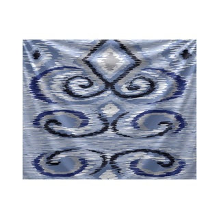 E by Design IKAT's Meow Geometric Print Tapestry