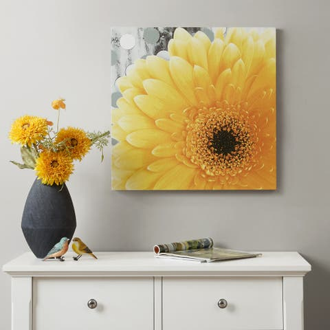 Mi Zone Vibrant Yellow Printed Gel Coated Canvas