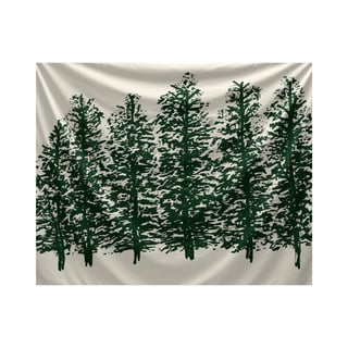 E by Design Through The Woods Floral Print Tapestry