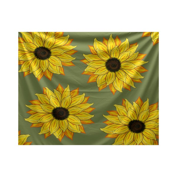 E by Design Sunflower Power Floral Print Tapestry