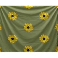 E by Design Sunflower Frenzy Floral Print Tapestry