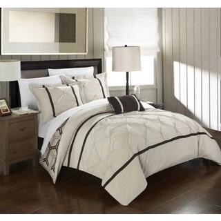 Chic Home 4-Piece Avee Beige Comforter Set