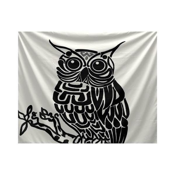 E by Design Hootie Animal Animal Print Tapestry