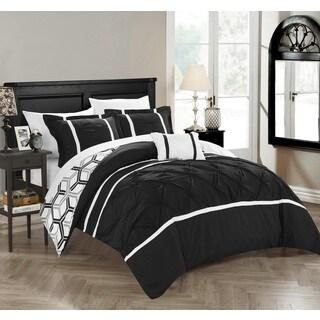 Chic Home 4-Piece Avee Black Comforter Set