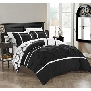 Chic Home 4-Piece Avee Black Comforter Set