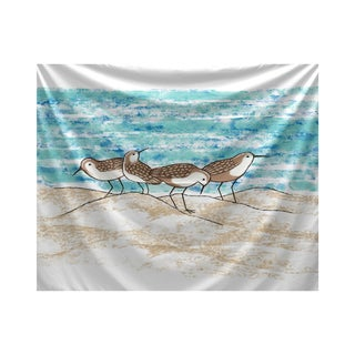 E by Design Sandpipers Animal Print Tapestry