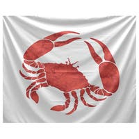 E by Design Crab Animal Print Tapestry