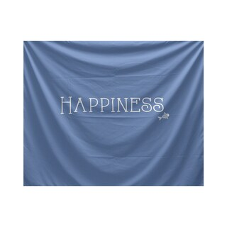 E by Design Coastal Happiness Word Print Tapestry (As Is Item)