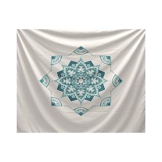 E by Design Snowflake Star Geometric Print Tapestry